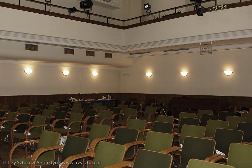 Studio im. Agnieszki Osieckiej kilka godzin przed konferencją